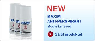 Køb Maxim AntiPerspirant Effektiv i mod sved.